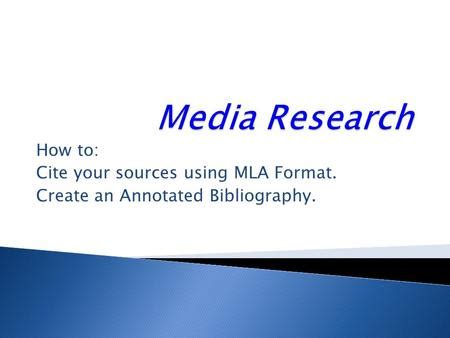 How to cite mla thesis